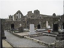 M1455 : Cemetery and church ruins, Cong by Nigel Thompson