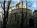 TQ3181 : Temple Church from Inner Temple Lane by Rob Farrow