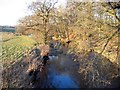 NY4740 : River Petteril from Calthwaite Bridge by Brian Norman