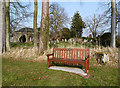 NT6633 : A dedicated bench seat at Makerstoun Kirkyard by Walter Baxter