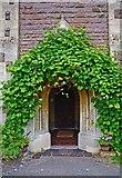 SO8090 : Entrance door to Holy Cross Church, Bobbington by P L Chadwick