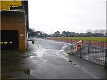 SZ1192 : Boscombe, athletic ground by Mike Faherty