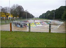 SZ1192 : Boscombe, skate park by Mike Faherty