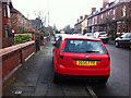 SJ8293 : Pavement parking on Sandy Lane, Chorlton by Phil Champion