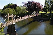 SO5139 : Victoria Bridge, Hereford by Ann