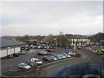 SJ9495 : Aldi car park, Hyde by John Topping