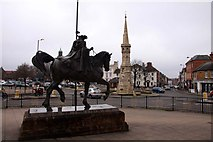 SP4540 : The Fine Lady and Banbury Cross by Steve Daniels