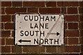 TQ4459 : Cudham street sign by Ian Capper