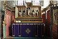 TF0660 : Altar and reredos, St Oswald's church, Blankney by J.Hannan-Briggs