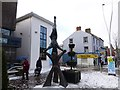 H4572 : A dusting of snow, Omagh by Kenneth  Allen