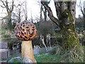 H4167 : Mushroom figure, Camphill Community by Kenneth  Allen