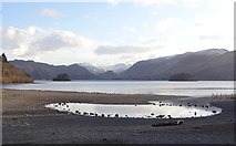 NY2621 : Pool at the edge of Derwentwater by Bryan Pready