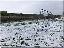 NU0052 : Swings in the snow by Barbara Carr