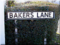 TM4469 : Bakers Lane sign by Adrian Cable