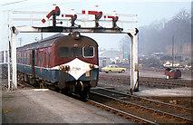 J2664 : Signal gantry, Lisburn station by Albert Bridge