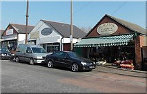 ST1067 : Park Crescent businesses opposite Castle Road, Barry by Jaggery