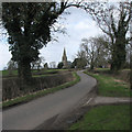 SK2334 : Sutton on the Hill: Church Lane by John Sutton