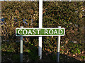 TM5399 : Coast Road sign by Adrian Cable