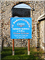 TM5398 : St. Bartholomew's Church Sign by Adrian Cable
