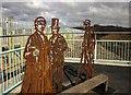 SX8671 : Metal sculptures, Town Quay Bridge by Derek Harper