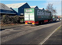 ST3386 : Eddie Stobart lorry in Caswell Way, Newport by Jaggery