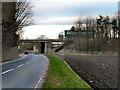 SJ4789 : Motorway over Fox's Bank Lane by David Dixon