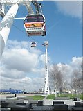 TQ3979 : The Emirates Airline cable car Southern terminus by Derek Voller