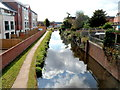 SO8376 : A view south from canal bridge 15, Kidderminster by Jaggery