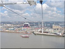 TQ3980 : The  Emirates Airline Thames cable car by Derek Voller