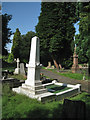 SP3478 : White marble memorial, London Road cemetery, Coventry CV1 by Robin Stott