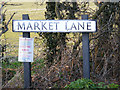 TM5298 : Market Lane sign by Adrian Cable