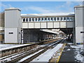 TQ8109 : Hastings Station footbridge by Oast House Archive