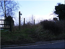 TM4069 : Footpath to Westleton Road by Adrian Cable