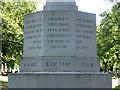 SP0892 : Inscription, Stone Cross Memorial, Witton Cemetery by Robin Stott