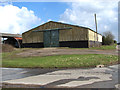 TM3397 : Farm sheds by junction of Birch Way and Bungay Road, Mundham by Evelyn Simak