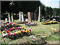 SP0892 : Freshly dug and settled graves, Witton Cemetery by Robin Stott