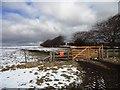 NZ0745 : Field gate beside the road by Robert Graham