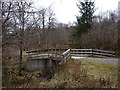NM9632 : Bridge over River Luachragan, Fearnoch Forest walk by Karl and Ali
