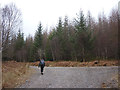 NM9731 : Forest road junction, Fearnoch Forest by Karl and Ali