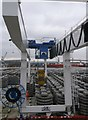 TQ7669 : Rail crane, Chatham Docks by David Anstiss