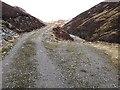 NN9777 : Track junction in Glen Tilt by wrobison