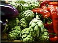 TR0260 : Vegetable display at Macknade Store, Faversham by pam fray