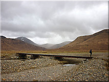 NM5736 : Bridge over the River Clachaig by Karl and Ali
