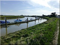 TQ0004 : Private moorings on the River Arun by Dave Spicer