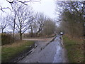 TM4468 : Walkbarn Farm Lane & footpath & entrance to Kings Farm by Adrian Cable