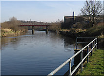 SE3419 : Wakefield - River Calder from Fall Ings landing stage by Dave Bevis