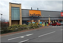 ST1167 : Halfords, Barry by Jaggery