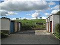 SX9273 : Lock-up garages, Bishop Wilfrid Road, Teignmouth by Robin Stott