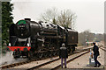 TQ3837 : No.92212 Runs Around at East Grinstead by Peter Trimming