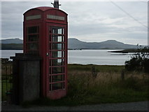 NG3238 : Ullinish: the telephone box by Chris Downer